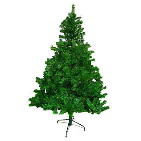 【摩達客】(預購3~5天出貨)台灣製 6呎 / 6尺(180cm)豪華版綠色聖誕樹裸樹 (不含飾品)(不含燈)