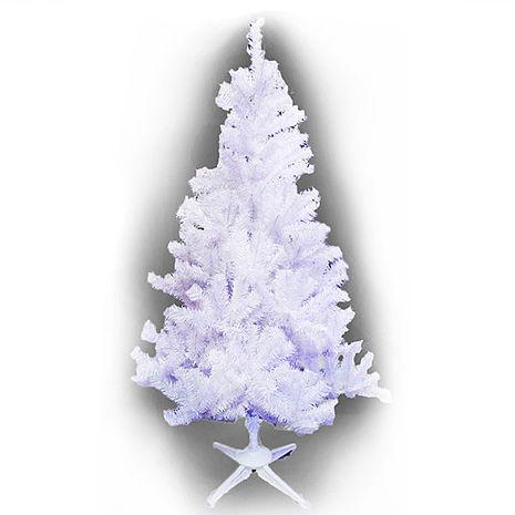 【摩達客】(預購3~5天出貨)台灣製4呎/4尺(120cm)豪華型夢幻白色聖誕樹 裸樹(不含飾品不含燈)