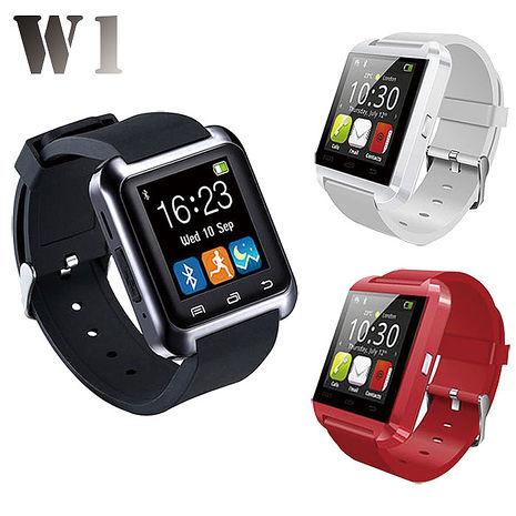 【長江】W1藍牙多功能觸控智慧手錶(安卓5.0以上可支援)紅色
