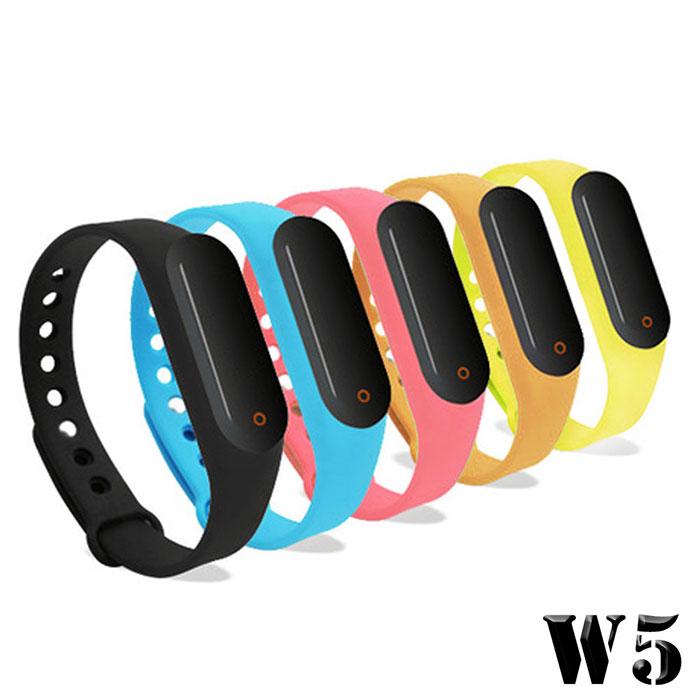 【搶購】 長江 W5 觸控炫彩多功能藍牙心率手環(OLED螢幕顯示)粉色