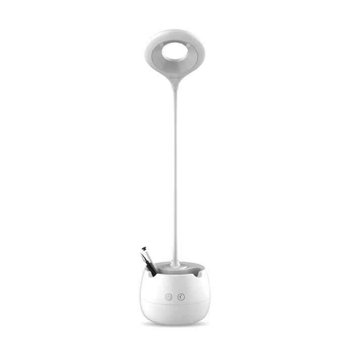 【FJ】LED柔光護眼檯燈(創意筆筒+手機架)