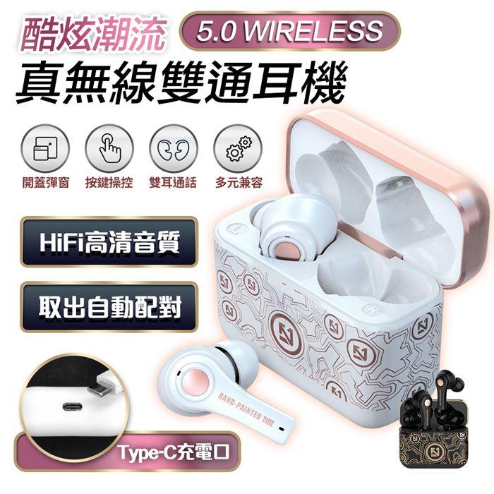 【2入組】真無線5.0智能雙通藍牙耳機TS100(自動雙耳連線)(活動)(多入賣場) $350/件
