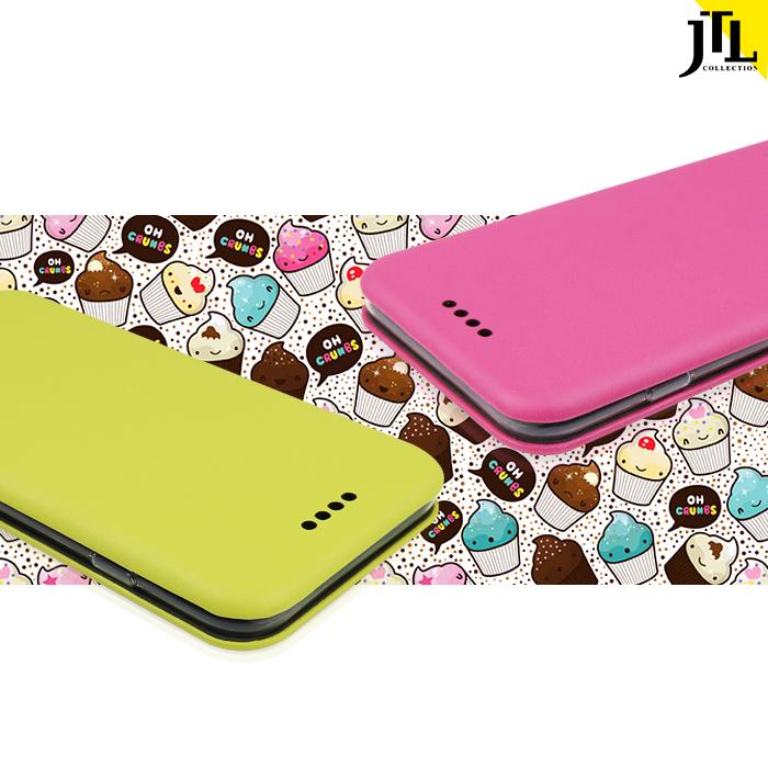 JTL iPhone 6/6s Plus 繽紛馬卡龍小清新側掀式皮套野莓紅