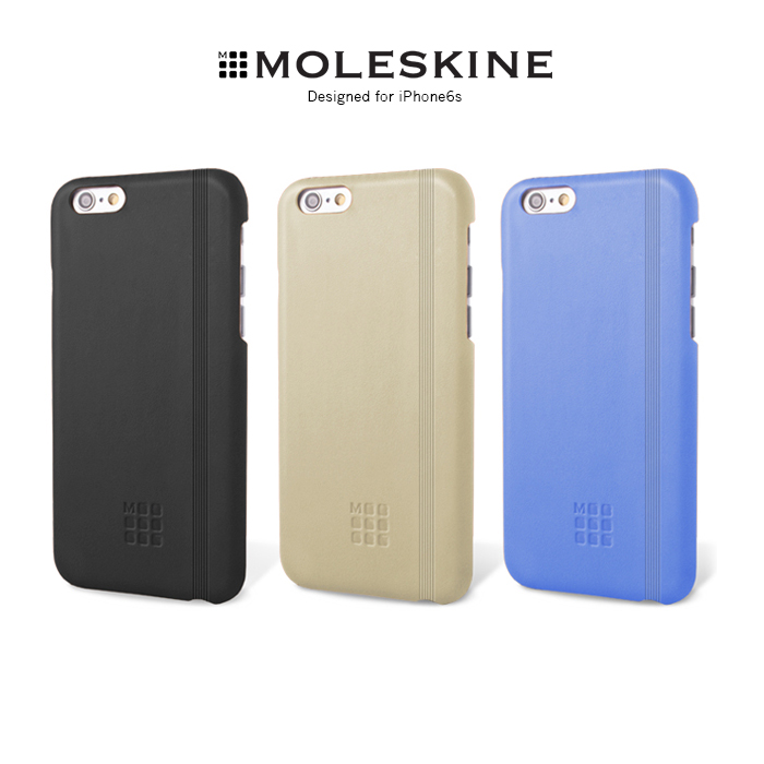 Moleskine iPhone 6/6s Plus 經典皮革背蓋黑色