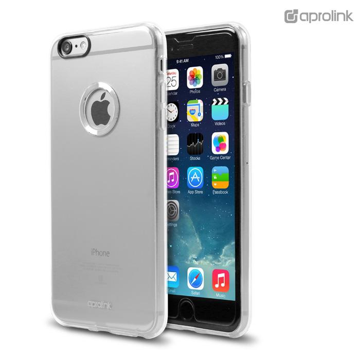 Aprolink iPhone 6s Plus/6 Plus 奢華系列輕透鋁環軟硬雙料保護殼