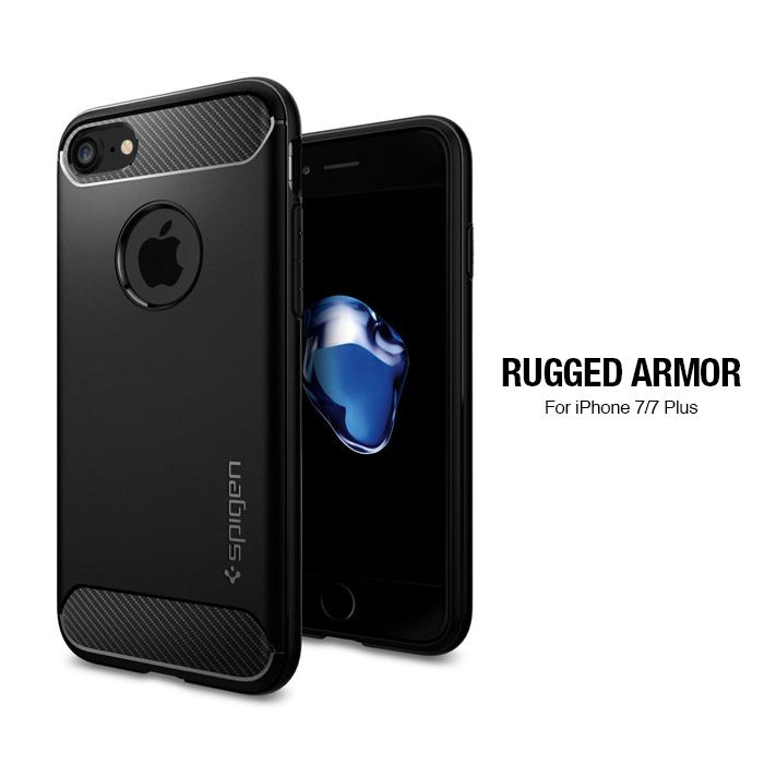 SGP iPhone 7 Rugged Armor-彈性防震保護殼(黑)