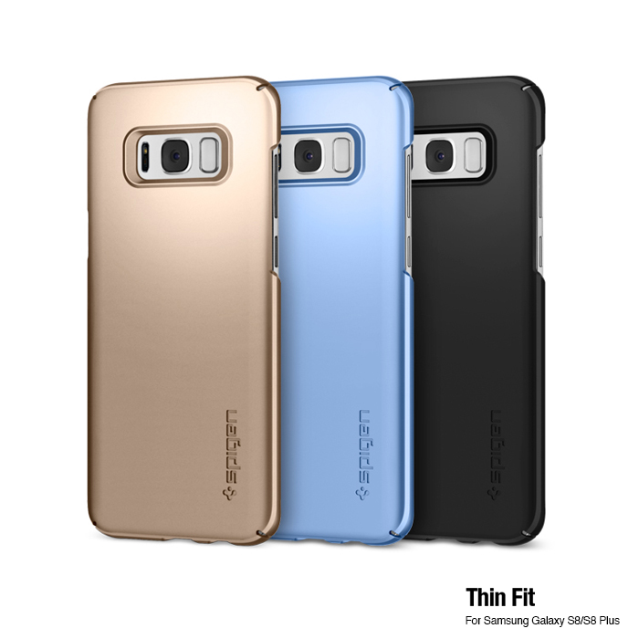 spigen Galaxy S8 Thin Fit-超薄防刮保護殼霧黑