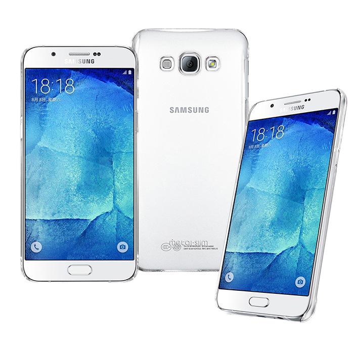 【Metal-slim】Samsung Galaxy A8 高抗刮PC透明系列保護殼