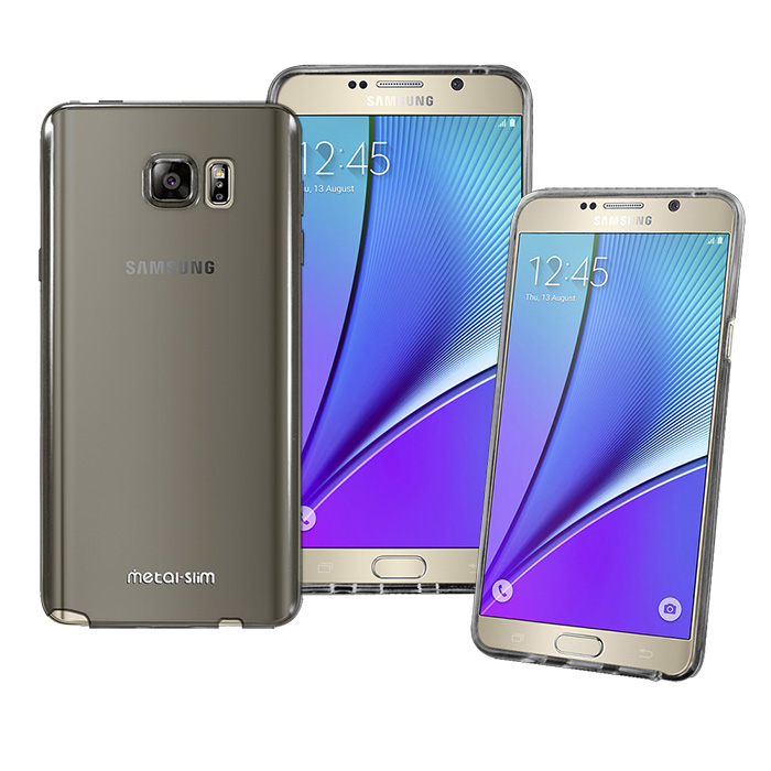 【Metal-slim】SAMSUNG GALAXY NOTE 5 超薄TPU透明黑軟殼