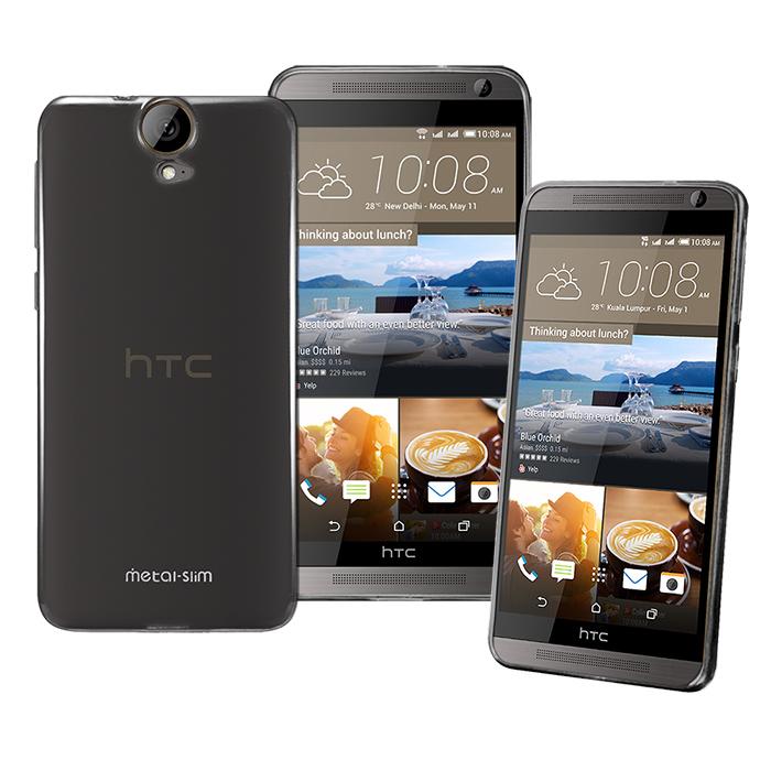 【Metal-slim】HTC ONE E9+/E9 時尚超薄TPU透明黑軟式保護殼