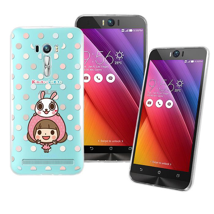 【Metal-Slim】 ASUS Zenfone  Slefie 香菇妹授權正版透明果凍套保護殼(點點滴滴)-手機平板配件-myfone購物