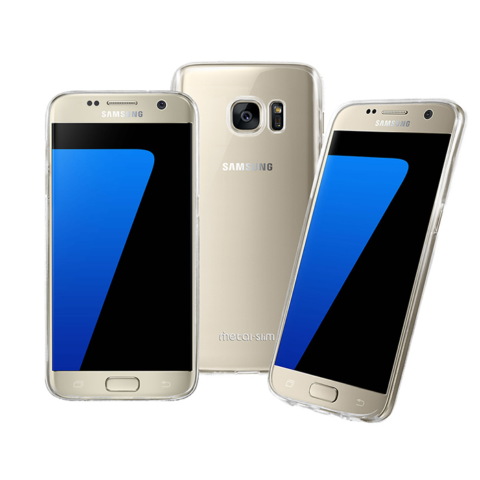【Metal-Slim】Samsung Galaxy S7 時尚超薄TPU透明軟殼