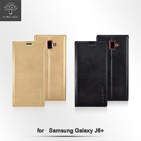 Metal-Slim Samsung Galaxy J6+ 高仿小牛皮TPU皮套