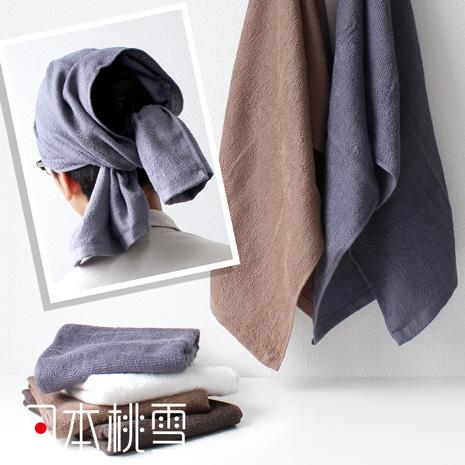 日本桃雪【綁頭毛巾】共5色淺咖啡色