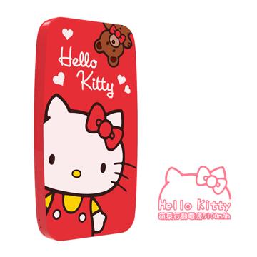 【APP】Hello Kitty 5100mah 2.3A 雙輸出行動電源紅色