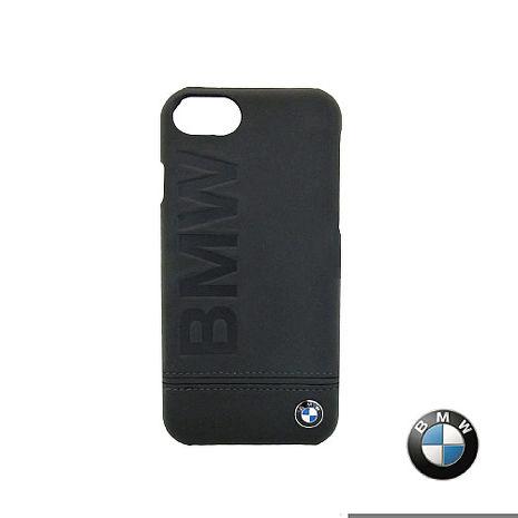 BMW iPhone 7 / 7 Plus 銘刻 真皮背蓋 (黑色) 原廠授權 質感 背蓋 保護 真皮 防撞