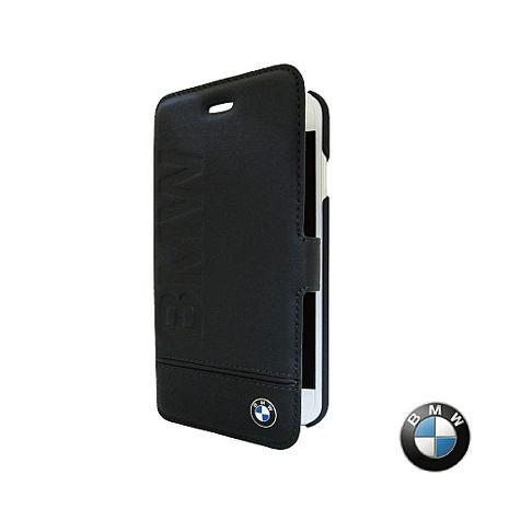 BMW iPhone 7 / 7 Plus 銘刻 側掀皮套 (黑色) 原廠授權 質感 側掀 保護 真皮 防撞-手機平板配件-myfone購物