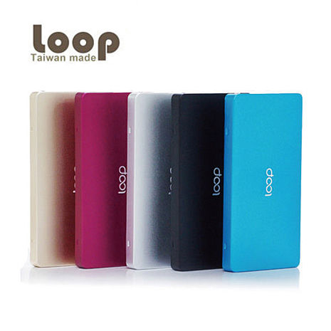 Loop 10000mAh 超薄金屬質感 雙輸出行動電源 (PB-103) LED電量顯示 大容量行動電源 移動電源桃色
