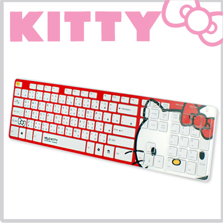 Hello Kitty 2.4G無線鍵盤 限定經典紅(RF1430)