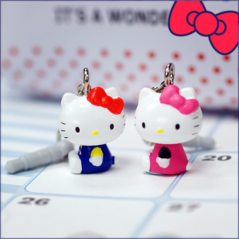 Hello Kitty日版 可愛公仔垂掛式耳機塞桃紅SR-2661PK