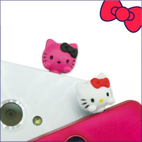 Hello Kitty日版 經典立體防塵耳機塞雪白甜心SAN-88KTA