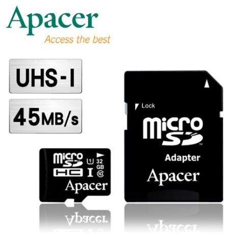 Apacer宇瞻 32GB MicroSDHC UHS-I Class10 記憶卡-3C電腦週邊-myfone購物