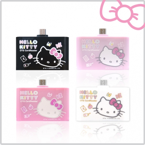 Hello Kitty 多功能行動OTG 讀卡機 (KT-OR01)夢幻粉KT-OR01PN
