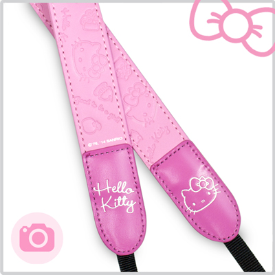 Hello Kitty Classic經典皮革相機背帶-蜜糖粉(KT-BAG01-P)