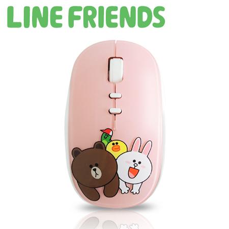 『APP下殺』LINE FRIENDS 浪漫法式鏡面 2.4G無線滑鼠-蜜糖粉(LN-LG01)
