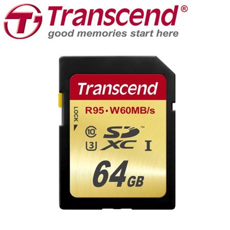創見 SDXC 64GB UHS-I U3 R95 W60MB/s 記憶卡