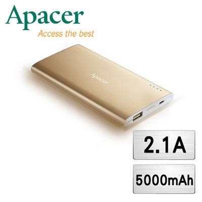 Aapcer宇瞻 5000mAh 高容量 行動電源-奢華璀璨金 (B510)