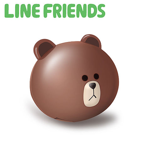 LINE FRIENDS 立體熊大 2.1A 雙USB高速充電器(LN-CR01)-手機平板配件-myfone購物