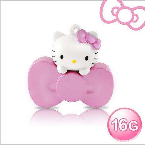 Hello Kitty 16GB 蝴蝶結系列造型隨身碟璀璨紅