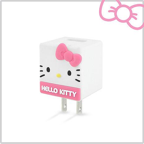 Hello Kitty 立體QQ 1A 輕巧USB充電器 KT-CR04P 櫻花粉