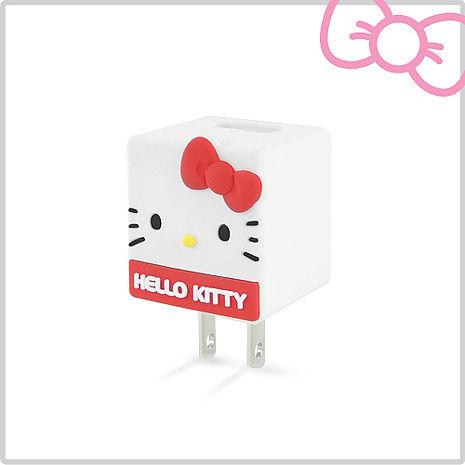 Hello Kitty 立體QQ 1A 輕巧USB充電器 KT-CR04R 玫瑰紅