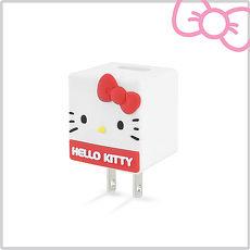 Hello Kitty 立體QQ 1A 輕巧USB充 KT~CR04R 玫瑰紅