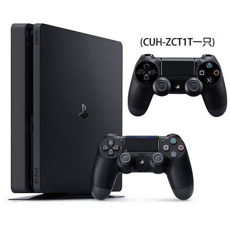 SONY PS4主機 CUH-2017系列500GB-極致黑+PS4 原廠手把(極致黑TZCT1T)