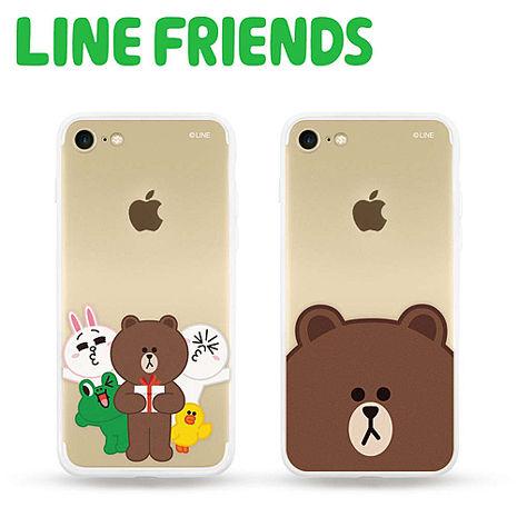 LINE FRIENDS iPhone 7透明霧面硬式保護殼熊大(LN-I7)