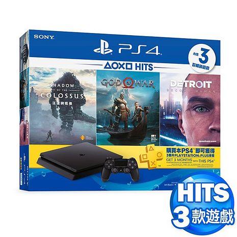 PS4主機500GB HITS 5同捆 戰神、底特律變人、汪達與巨像