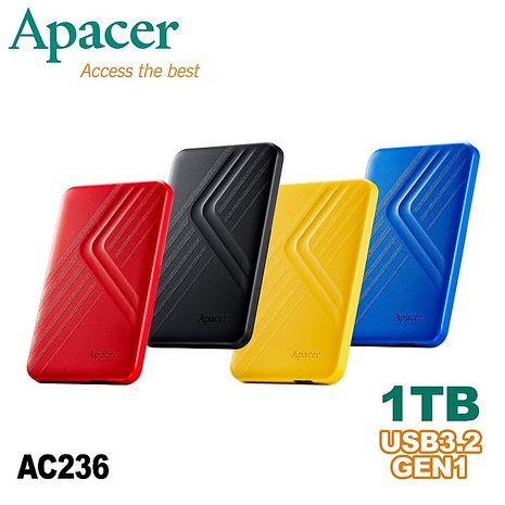 Apacer宇瞻AC236 2TB USB3.2 Gen1行動硬碟贈特典-隨機