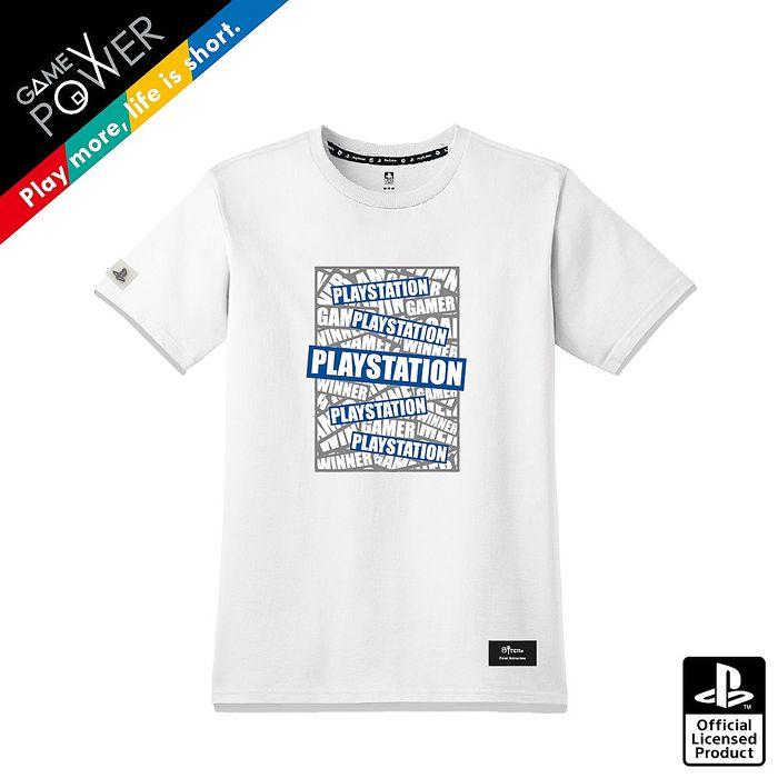 PlayStation 疊疊樂夜光TEE-白(OLP-WLT-07)