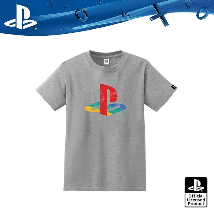 PlayStation Retro復古經典彩色LOGO-灰色(OLP-TEE-08)
