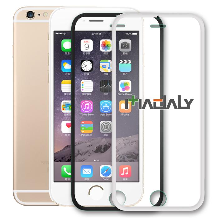 MADALY APPLE iPhone 6 4.7吋 全覆蓋全貼合滿版鋼化玻璃保護貼(細框版)白色