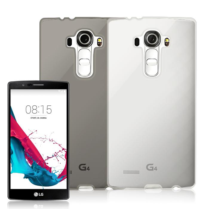 LG G4 防刮TPU果凍保護套透白