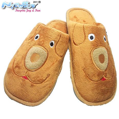 《NicoBoy》USB 小熊暖腳拖鞋