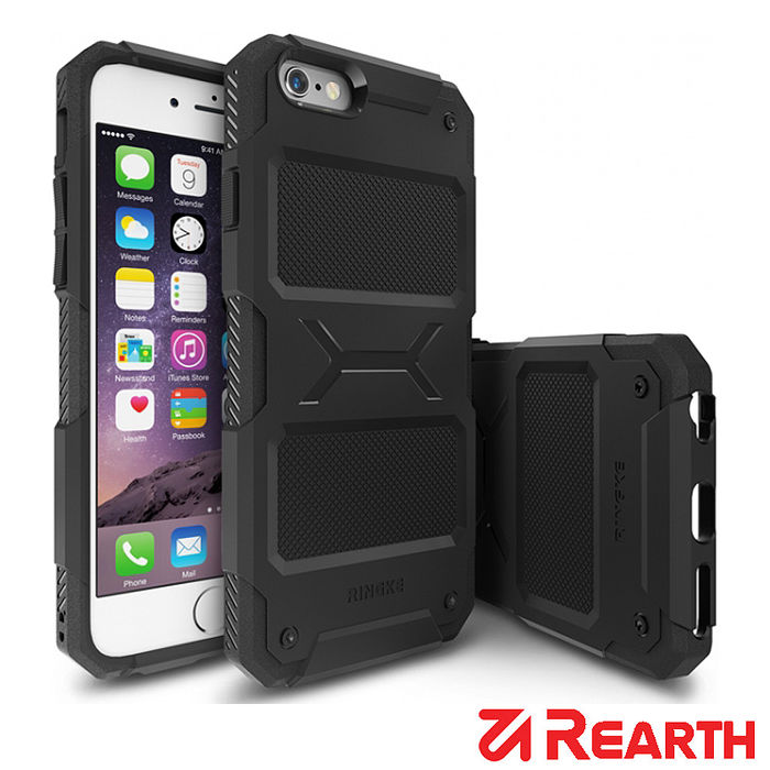 Rearth iPhone 6/6S (Ringke Rebel)強固型保護殼 (贈送保護貼)墨綠