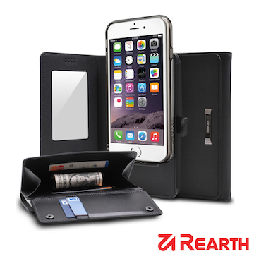 Rearth Apple iPhone 6 Plus (5.5)(Ringke Wallet)皮夾式真皮保護皮套