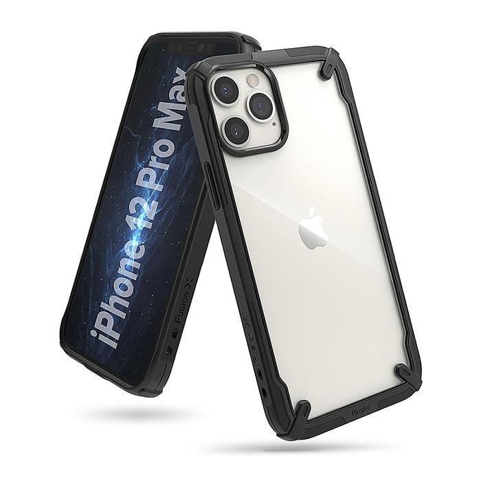 Rearth Apple iPhone 12 Pro Max (Ringke Fusion X) 高質感保護殼(黑)