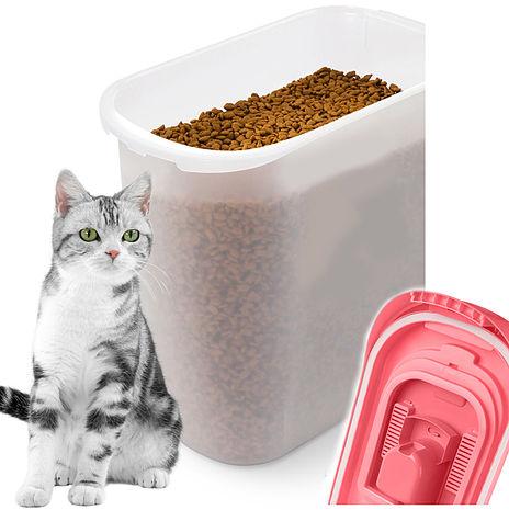 貓樂適CATIDEA貓咪飼料保鮮桶桶零食桶附糧鏟保鮮桶(顏色隨機出)