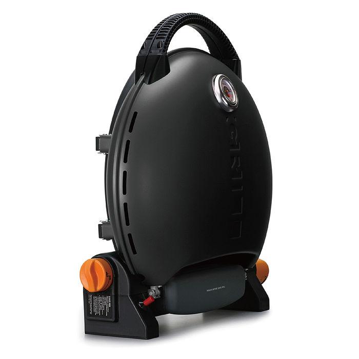 烤肉神器【O-Grill 3000T 】 美式時尚可攜式瓦斯烤肉爐-個性黑